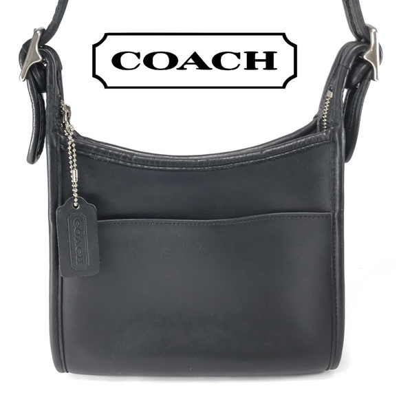 a6fd712ec6 Vintage COACH 9997 Black Leather Shoulder Bag